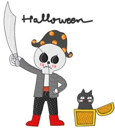 Halloween Pirate embroidery design