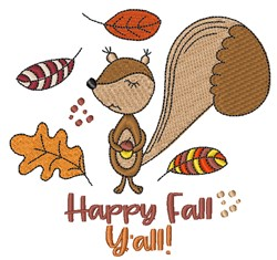 Happy Fall Yall embroidery design