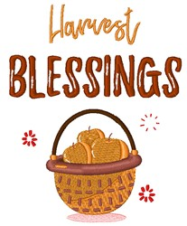 Harvest Blessings embroidery design
