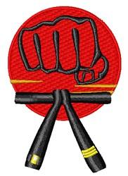 Karate Fist embroidery design