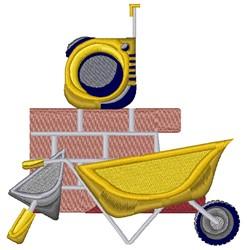 Brick Construction embroidery design