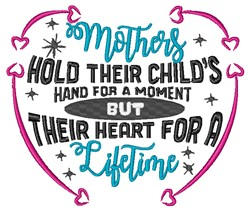 Hold Childs Hand embroidery design