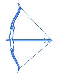 Bow & Arrow embroidery design