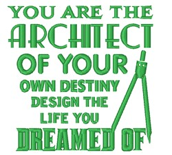 The Architect embroidery design