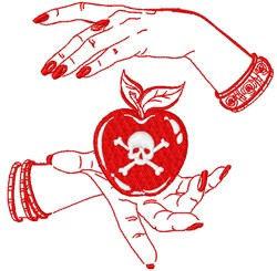Poison Apple embroidery design