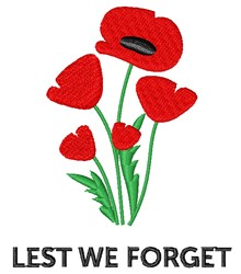 Lest We Forget embroidery design