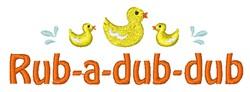 Rub-A-Dub-Dub embroidery design