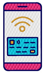 Wireless Payment embroidery design