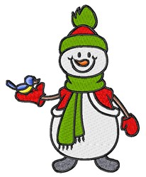 Bird & Snowman embroidery design