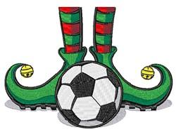 Soccer Elf embroidery design