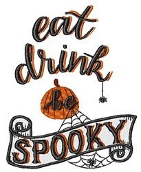 Be Spooky embroidery design