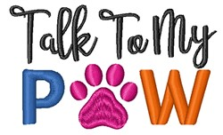 Talk To Paw embroidery design