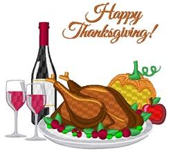 Thanksgiving Dinner embroidery design