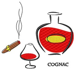Cognac & Cigar embroidery design