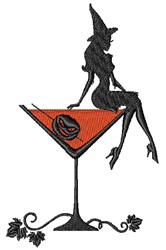 Witch Martini embroidery design