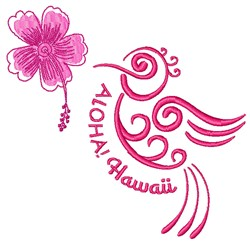 Aloha Hawaii embroidery design