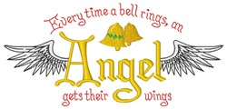 Angel Gets Wings embroidery design