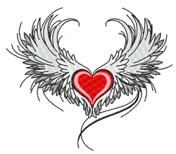 Angel Heart embroidery design
