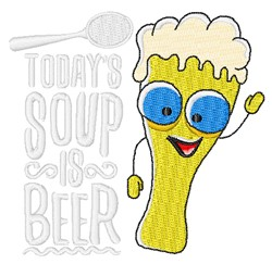 Soup Is Beer embroidery design