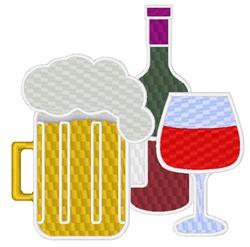 Beer & Wine embroidery design