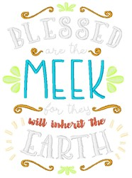 Blessed Are The Meek embroidery design