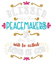 The Peacemakers embroidery design