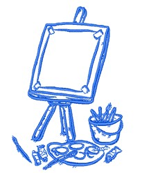 Paint Easel embroidery design