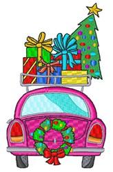 Christmas Car embroidery design