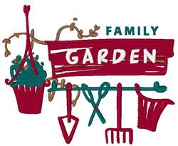 Family Garden embroidery design