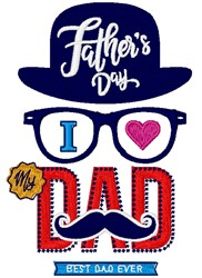 Fathers Day Dad embroidery design