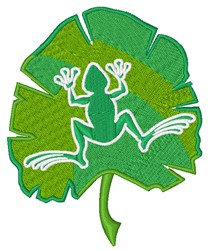 Palm Frond & Frog embroidery design