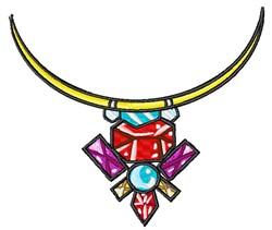 Gemstone Necklace embroidery design