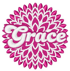 Grace embroidery design