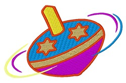 Spinning Toy Top embroidery design