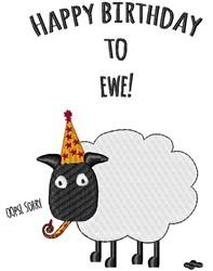 Happy Birthday To Ewe embroidery design