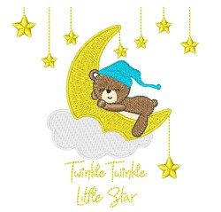 Twinkle Little Star embroidery design