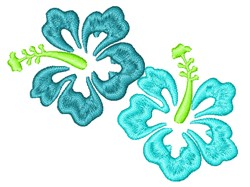 Hibiscus Outlines embroidery design