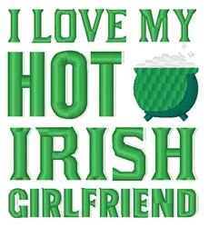 Hot Irish Girlfriend embroidery design