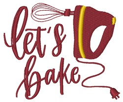 Let's Bake embroidery design