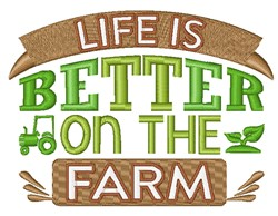 Better On The Farm embroidery design