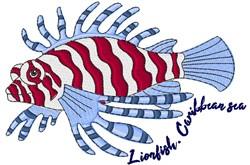 Caribbean Sea Lion Fish embroidery design