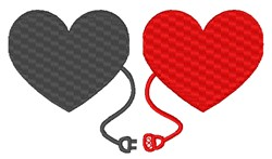 A Valentines Day Connection embroidery design