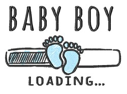 Baby Boy Loading embroidery design