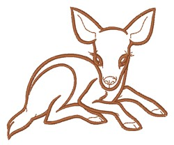 Fawn Outline embroidery design