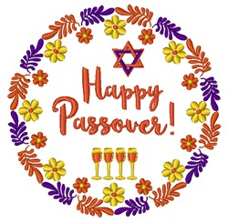 Happy Passover! embroidery design