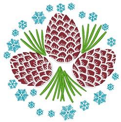 Winter Pinecones embroidery design
