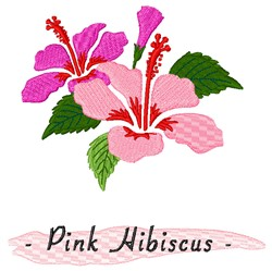 Pink Hibiscus embroidery design