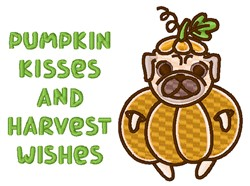 Pumpkin Kisses Harvest Wishes embroidery design