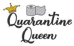 Quarantine Queen Toilet Paper embroidery design