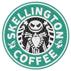 Skellington Coffee embroidery design